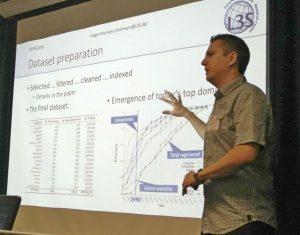 Helge Holzmann presenting ArchiveSpark